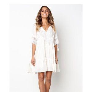 Anthropologie White gauze dress